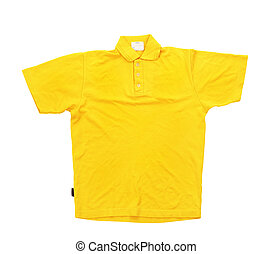 Yellow t-shirt isolated on a white background