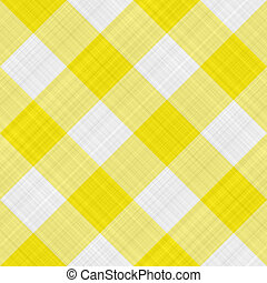 yellow table cloth - seamless texture of yellow and white...