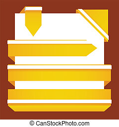 yellow tags