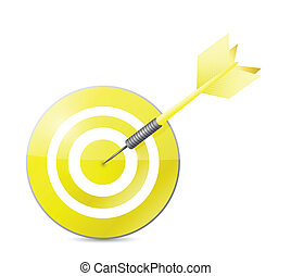 yellow target illustration design