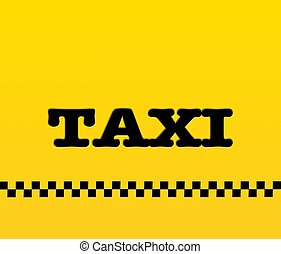 Yellow taxi.