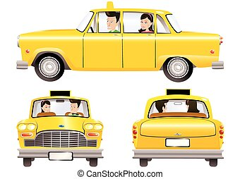 Yellow taxicab