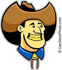 Yellow Teeth Cowboy - Cowboy with yellow teeth