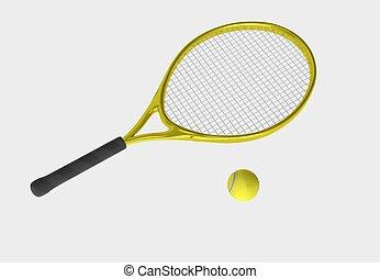 yellow tennis racket
