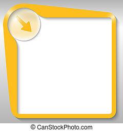 yellow text box with arrow