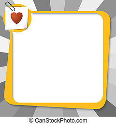 yellow text box with paper clip and heart