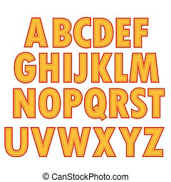 Yellow Textile Alphabet