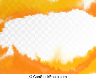 Yellow texture, abstract hand painted watercolor background with gap in between. Vector illustration.