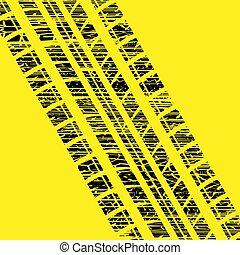 Yellow tire grunge background