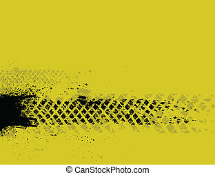 Yellow tire track background - Grunge yellow background with...