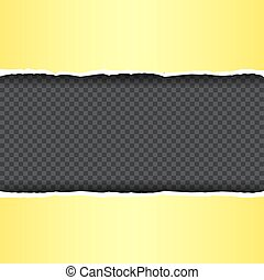 yellow torn paper transparent background