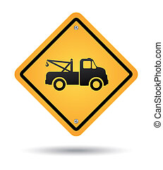 tow road sign