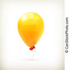 Yellow toy balloon, vector