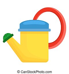 Yellow Toy Watering Can for Children Illustration