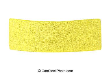 Yellow training headband isolated on a white background