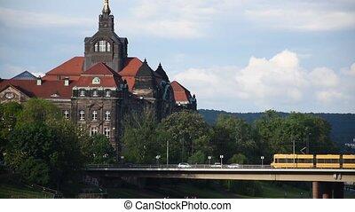 Dresden Altstadt - noisy streets, public transport and car traffic