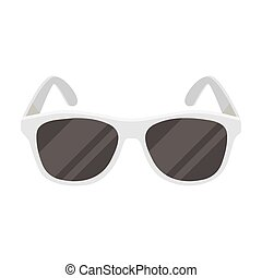 Yellow trendy sunglasses icon in monochrome style isolated...