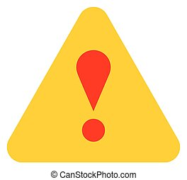 Yellow triangle exclamation mark icon warning sign