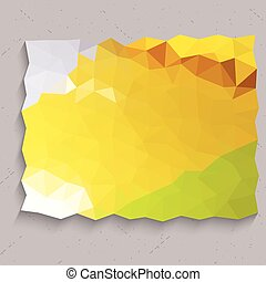 Yellow triangles on concrete wall abstract