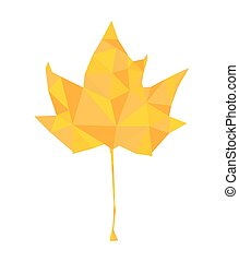 yellow triangular leaf, vector illustration
