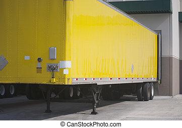 Yellow Truck Trailer