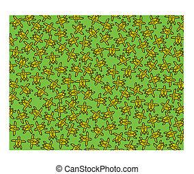 Yellow turtles