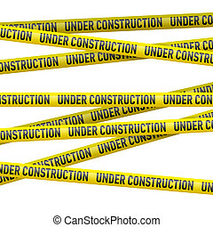 Yellow under construction danger tape - Realistic yellow...