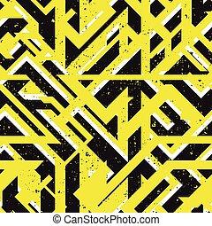 Yellow urban geometric seamless texture