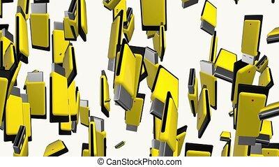 Yellow usb flash drives