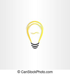 yellow vector bulb icon design