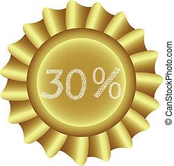 Yellow Vector Label-30%