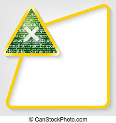 yellow vector text box for entering text with ban sign and ...