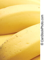 Yellow vibrant background ripe banana