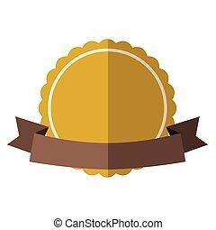 Yellow vintage badge