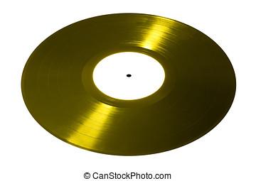 Yellow vinyl disk