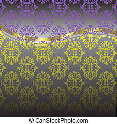 yellow violet pattern
