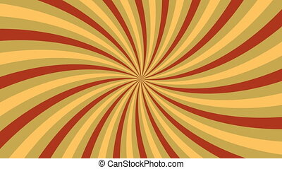 Rotating vortex with yellow and brown stripes