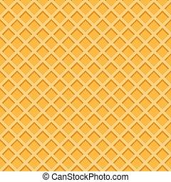 Yellow waffle seamless vector pattern