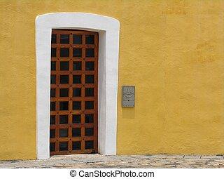 Historical door in a castle