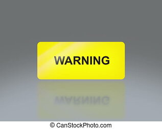 Yellow warning signage 4K - the notice of traffic sign for...