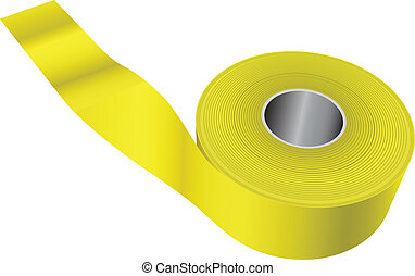 Yellow warning tape
