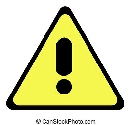 Yellow warning triangle sign