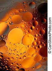 Yellow water bubbles abstract light illumination