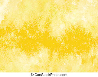 yellow watercolor background. by drawing