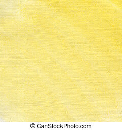 Yellow watercolor background on textured paper.