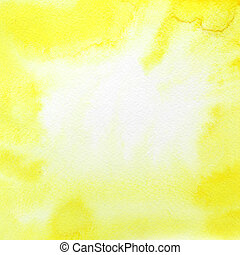 Yellow watercolor background