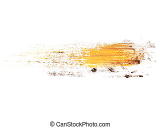painted brush strokes isolated