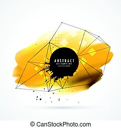 yellow watercolor wire frame mesh