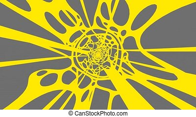 Yellow Wave On Grey Background
