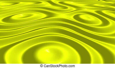 Yellow Wave Slow Abstract Motion Background